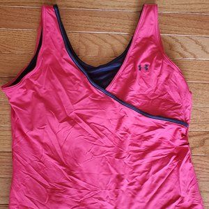 Under Armour NWT Pink HeatGear Tank w/ bra